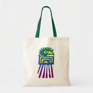Ancient Mexican Bird Design Tote Bag
