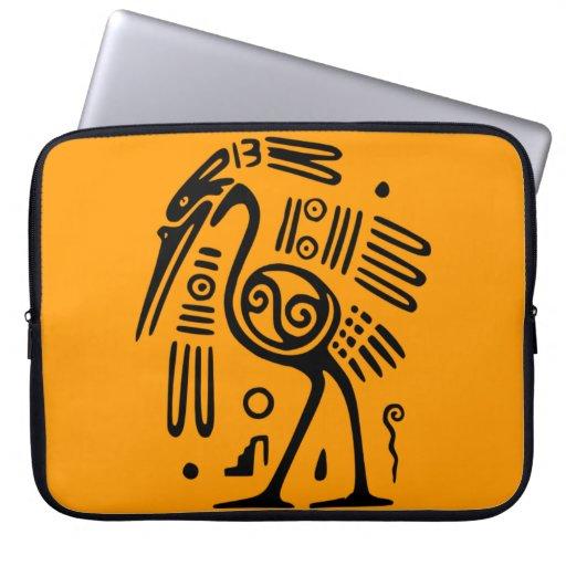Ancient Mexican Bird Motif Laptop Sleeve
