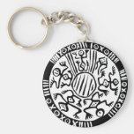 Ancient Mexican Design Keychain