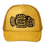 Ancient Mexican Fish Motif Cap Trucker Hat