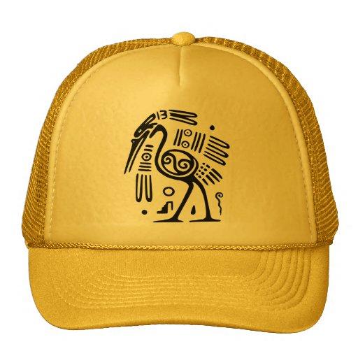 Ancient Mexican Motif Cap Trucker Hat