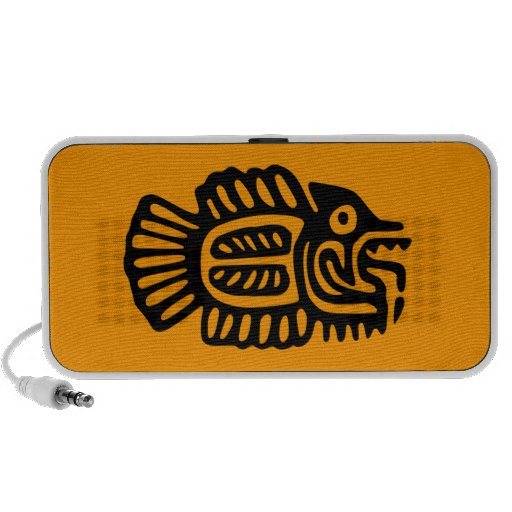 Ancient Mexican Motif Doodle Speakers