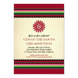 Ancient Mexican Sun Serape Cinco de Mayo Party Personalized Invite