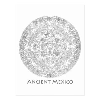 Ancient Mexico Cultures! History cool art! Post Card