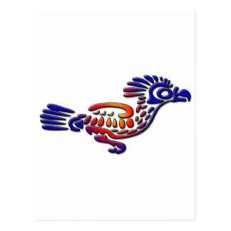 Ancient Mexico Design Road Runner Postcard