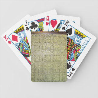 Ancient mosaic floor texture bicycle playing cards