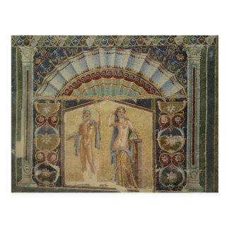 Ancient Mosaics Herculaneum Ruins Italy Postcard