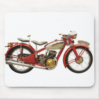 Ancient motorcycle mouse pad