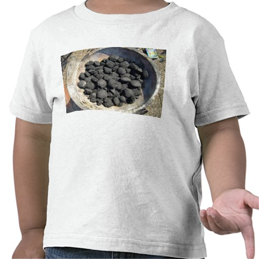 Ancient mud bowl with black powder material tees