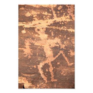 Ancient Native American Zuni Lizardman Petroglyph Photo Print