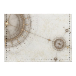 Ancient Nautical Chart, Grunge Tyvek® Card Wallet