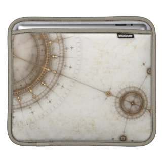 Ancient Nautical Chart, Grunge Sleeves For iPads