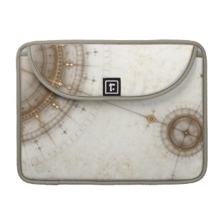 Ancient Nautical Chart Grunge Sleeves For MacBook Pro