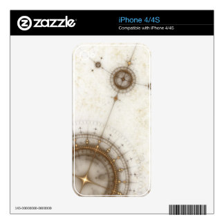 Ancient Nautical Chart, Grunge Skins For iPhone 4S