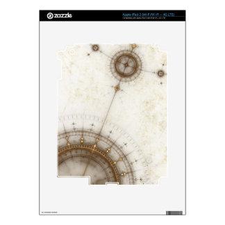 Ancient Nautical Chart, Grunge Skins For iPad 3