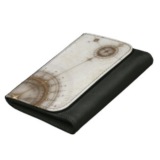 Ancient Nautical Chart, Grunge Women's Wallets