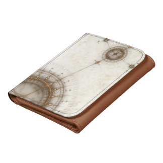 Ancient Nautical Chart, Grunge Wallet