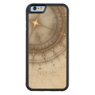 Ancient Nautical Chart, Grunge Carved® Maple iPhone 6 Bumper