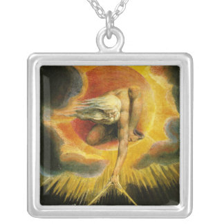 'Ancient of Days' Square Pendant Necklace