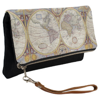 Ancient Old World Map Clutch