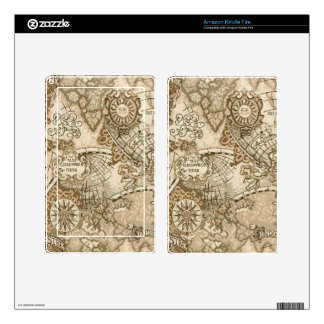Ancient Old World Map Decals For Kindle Fire