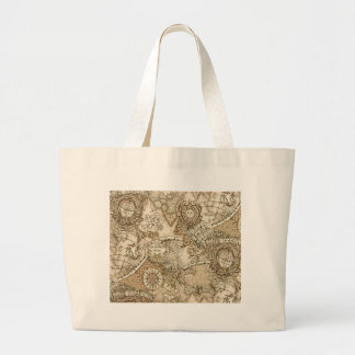 Ancient Old World Map Large Tote Bag