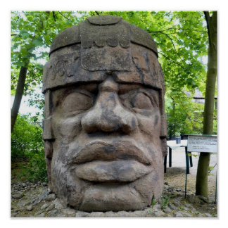 Ancient Olmec Head Print