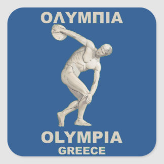 Ancient Olympia Greece Square Sticker