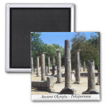 Ancient Olympia - Peloponnese 2 Inch Square Magnet