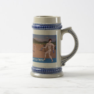 Ancient Olympia, the Sadion 18 Oz Beer Stein