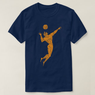 Ancient Olympian Volleyball Funny Pun Dark T-Shirt