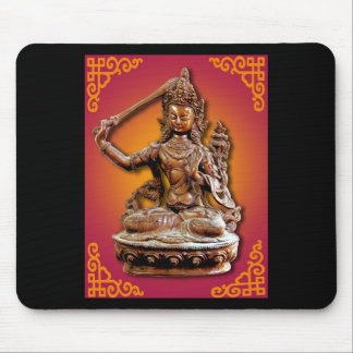 Ancient Ornate Buddhist Diety Manjushri Mousepad