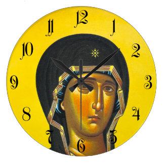 Ancient Orthodox icon Large Clock