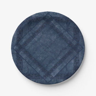 Ancient overlays-blue shade paper plate
