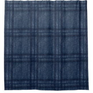 Ancient overlays-blue shade shower curtain