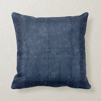 Ancient overlays-blue shade throw pillow