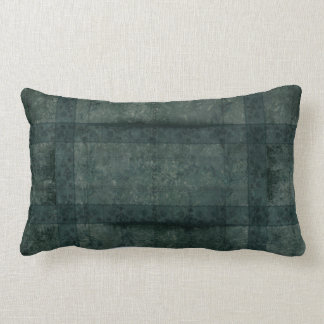 Ancient overlays-green chilly shade lumbar pillow