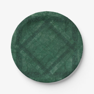 Ancient overlays-green shade paper plate