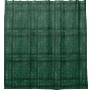 Ancient overlays-green shade shower curtain