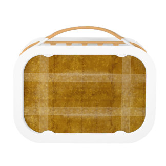 Ancient overlays-ochre shade lunch box