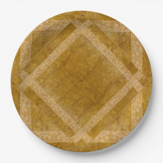 Ancient overlays-ochre shade paper plate