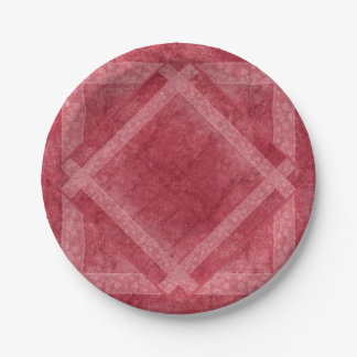 Ancient overlays-red shade paper plate
