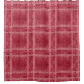 Ancient overlays-red shade shower curtain