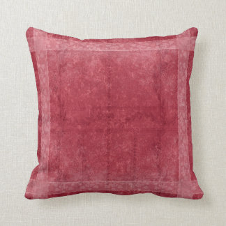 Ancient overlays-red shade throw pillow