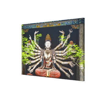 Ancient painted sculptures in Shuanglin Canvas Print