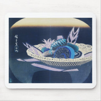 Ancient Painting of a Bowl of Sushi circa 1800's Mouse Pad