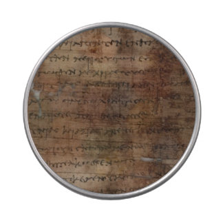 Ancient Papyrus Manuscript Historic Design Jelly Belly Candy Tin