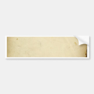 Ancient Parchment Stained Yellowed Vintage Blank Bumper Sticker