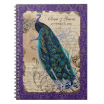 Ancient Peacock Formal Wedding Planner Journal Note Books