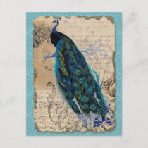 Ancient Peacock Vintage RSVP Response Invite